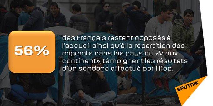 L'attitude des Français à l'égard de l'accueil et de la répartition des réfugiés reste majoritairement négative https://t.co/mX8dmF1yvX