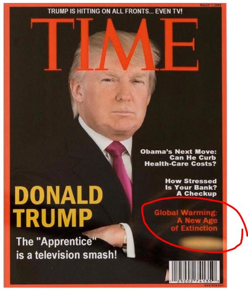 &quot;Fake news&quot; Trump frames a fake Time Magazine cover with him on it. Ironically, with a REAL #climate change headline  http:// wapo.st/2sO8Uq3?tid=ss _tw&amp;utm_term=.c97eda084d11 &nbsp; … <br>http://pic.twitter.com/xPp05BumjO