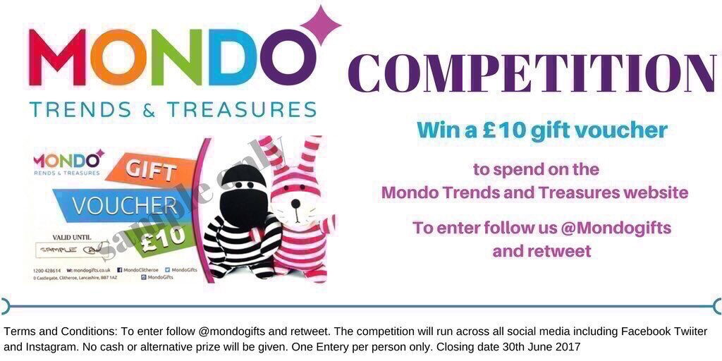 LAST FEW DAYS #COMPETITION.  Win a £10 Gift Voucher to spend online  http://www. mondogifts.co.uk  &nbsp;   To enter follow @mondogifts &amp; re-tweet to enter<br>http://pic.twitter.com/WUNGwvYDto