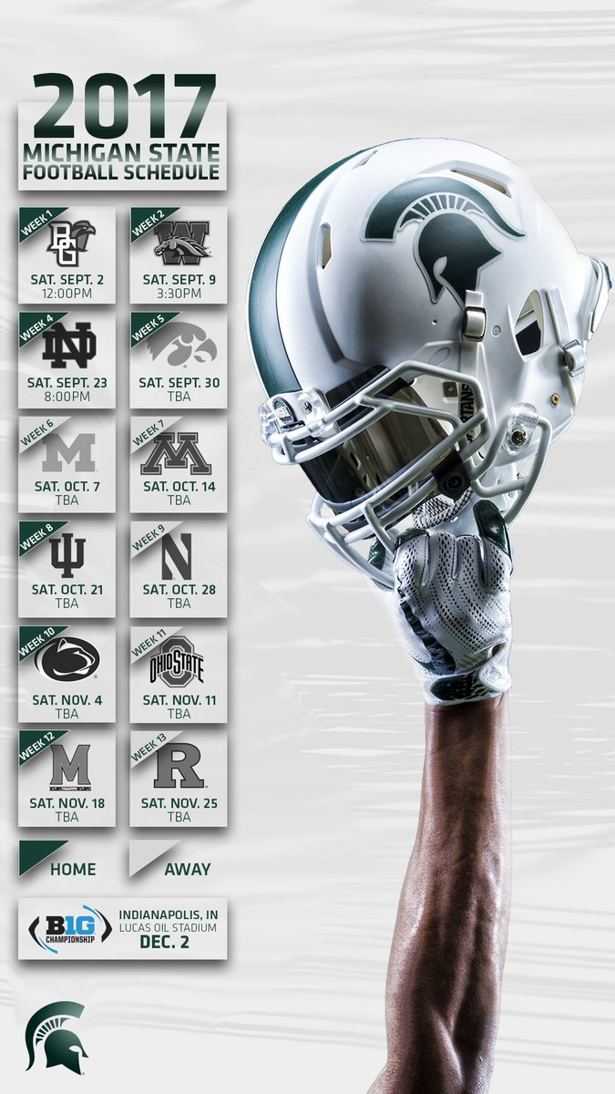 "michigan state football on twitter: ""full 2017 schedule lock screens"