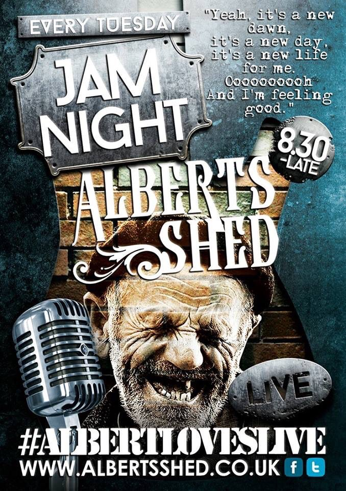 In #Shrewsbury #TONGHT #AlbertLovesLive Our #JamNights are awesome #Rock #Blues #Funk #Grime #Soul @shroprocks @shrewsmorris @jimallthetime<br>http://pic.twitter.com/VnGQXN9bbh