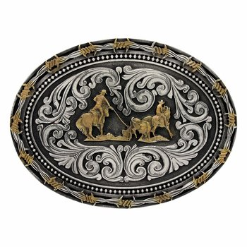 Two tone Classic Impressions  Barbed Wire &amp; Pin Point Team  Roper Attitude Buckle MSRP:$32.00  http:// ow.ly/Bltm30cVlnE  &nbsp;   #cowboy #western<br>http://pic.twitter.com/KAyBgRVYhH