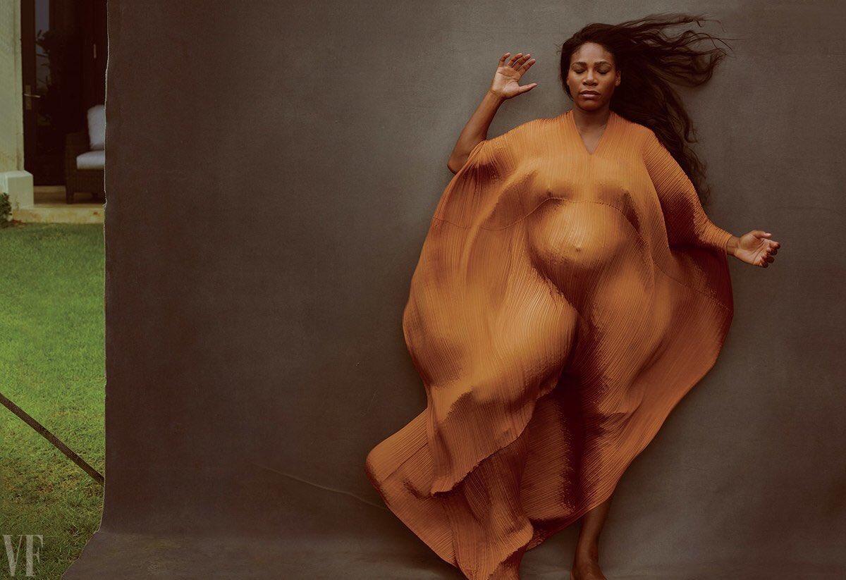 Serena Williams Posa Desnuda Y Embarazada
