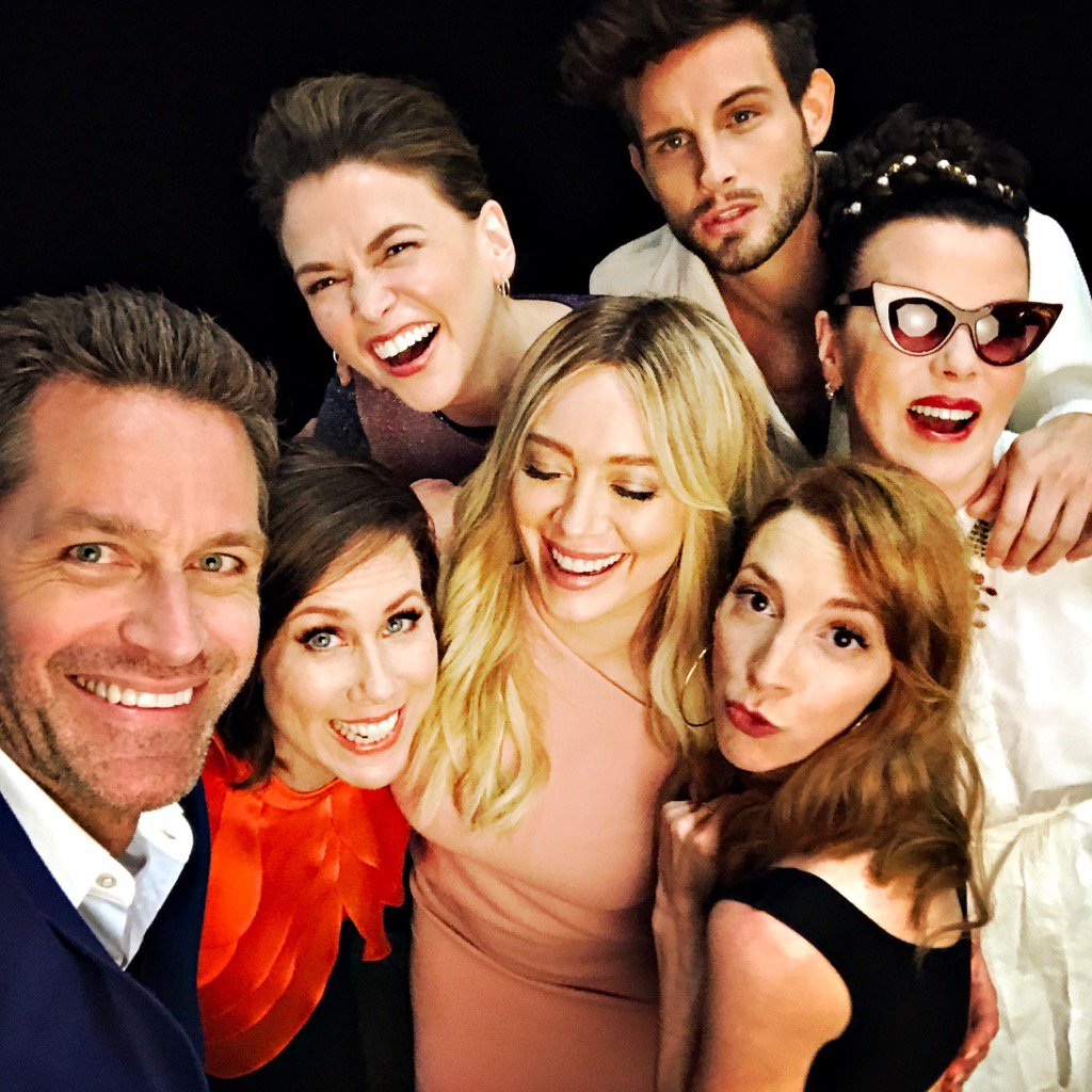 So very happy 2 be part of this @YoungerTV fam! All together now: C U...