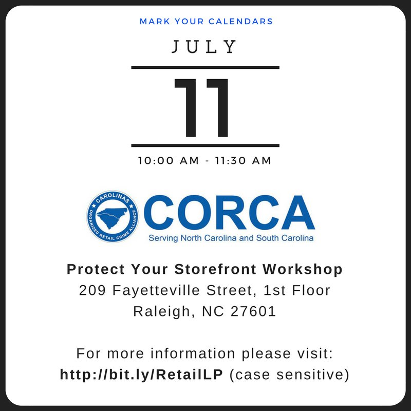Join CORCA for a workshop where you&#39;ll learn tips &amp; tools to prevent #loss and ensure #safety in your stores!  http:// bit.ly/RetailLP  &nbsp;  <br>http://pic.twitter.com/1FI3o58bUG