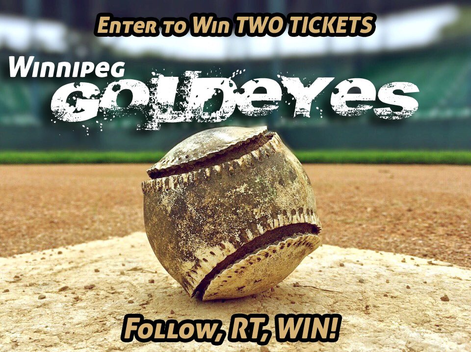 Kick off your Canada day weekend with a Goldeyes game! RT and follow to be entered to win 2tix for Friday&#39;s game! #letsplaywpg #canada150  <br>http://pic.twitter.com/PkGGRm2SZs