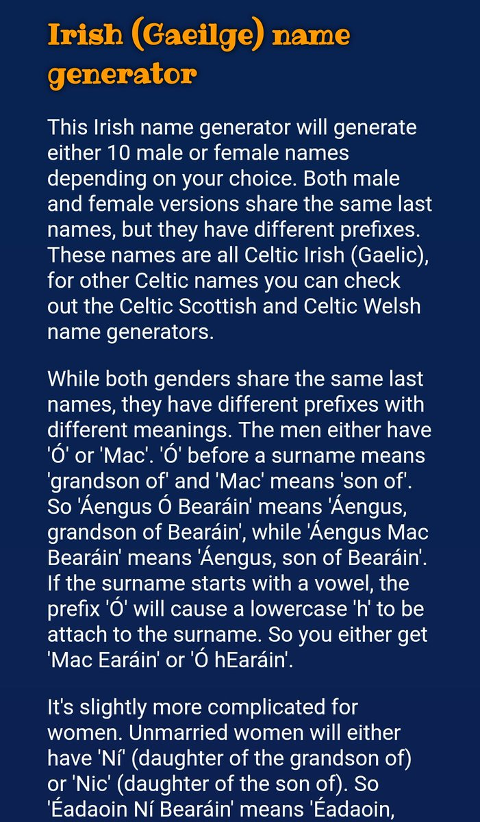 The Irish For On Twitter Pleasantly Surprised By Names Suggested This Site Tco 9C2cceueoM