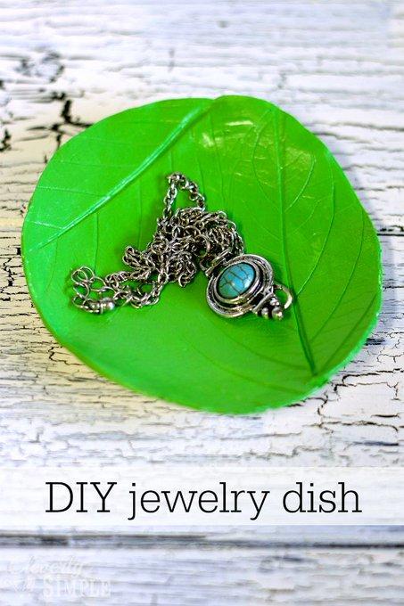 DIY Jewelry Dish Organizer