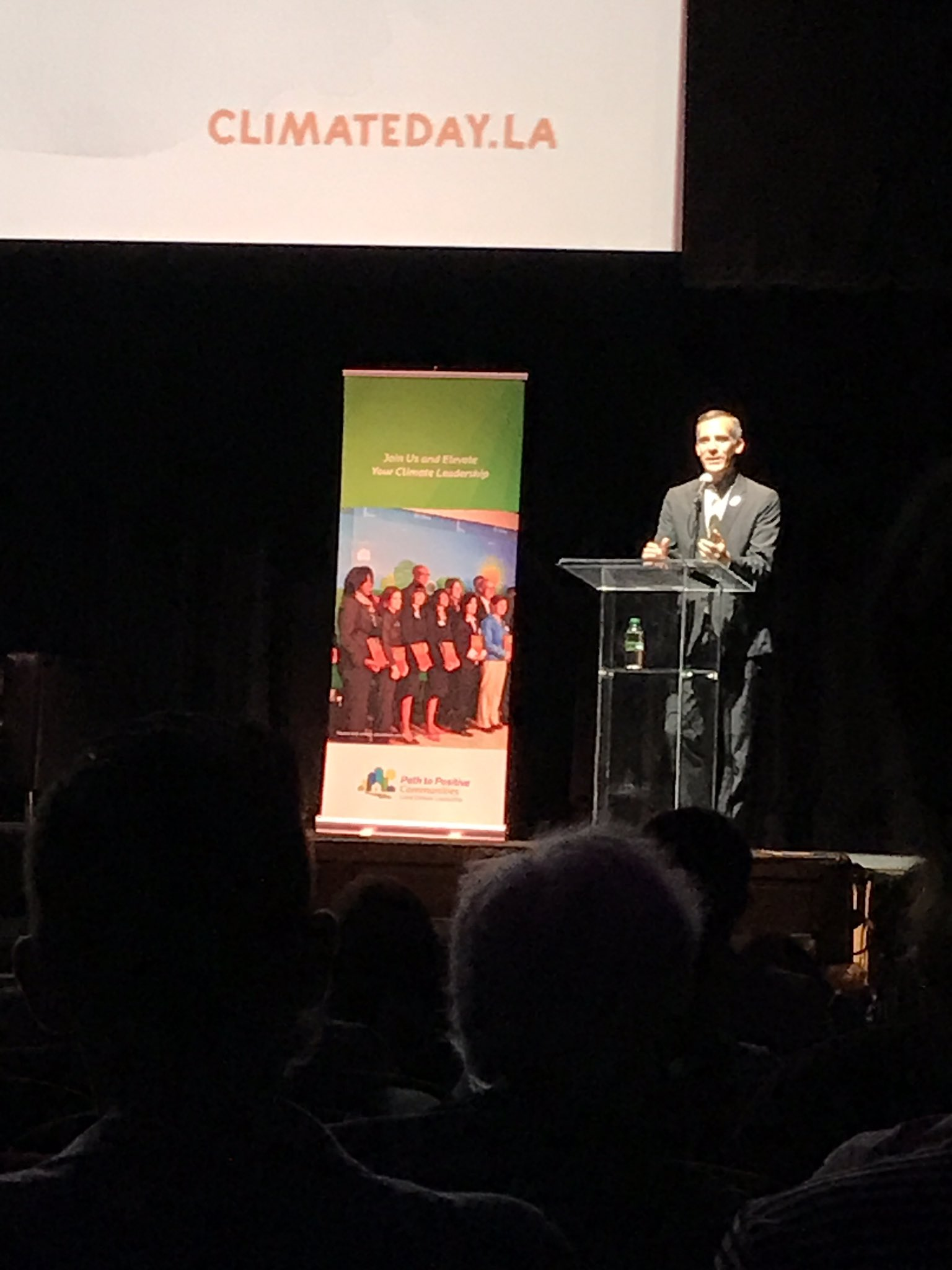 """Today is not only the day of words but day of action, not looking back at history but making history."" @MayorOfLA #ClimateDayLA https://t.co/2S3F8EuMm1"