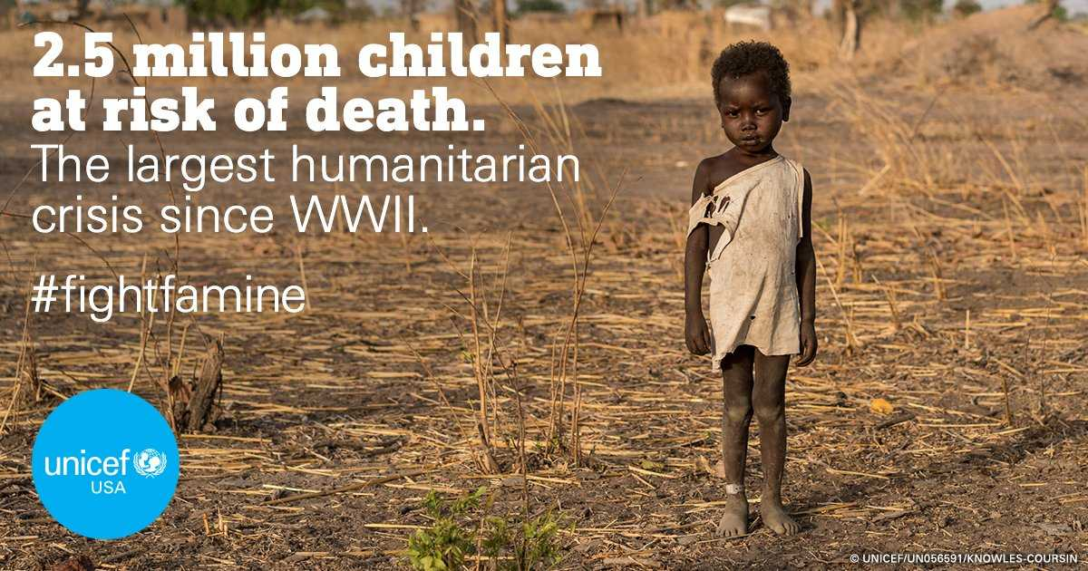 #FightFamine: We must act NOW to prevent crisis across #Africa &amp; Middle East from getting worse.  http:// bit.ly/2qT4dYK  &nbsp;   v/@unicefusa<br>http://pic.twitter.com/94zVOqdTRC