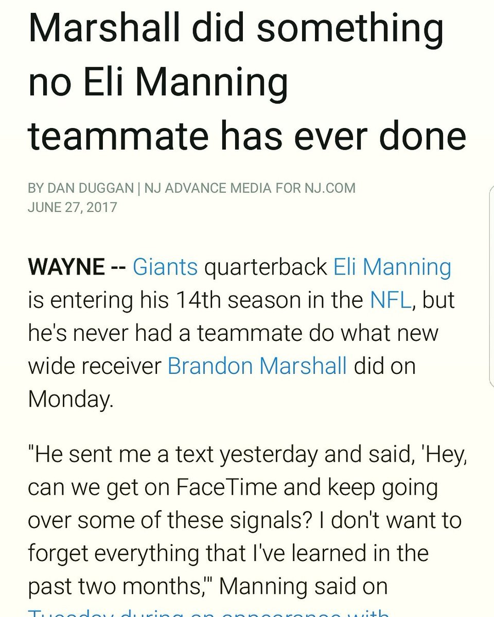 Ok @BMarshall we see you!! THAT&#39;S WHAT IM TALKIN ABOUT #family #Giants #giantspride #gmen #nygiants #nyg #bigblue #bigbluenation @DDuggan21<br>http://pic.twitter.com/1NKR1J7XA1