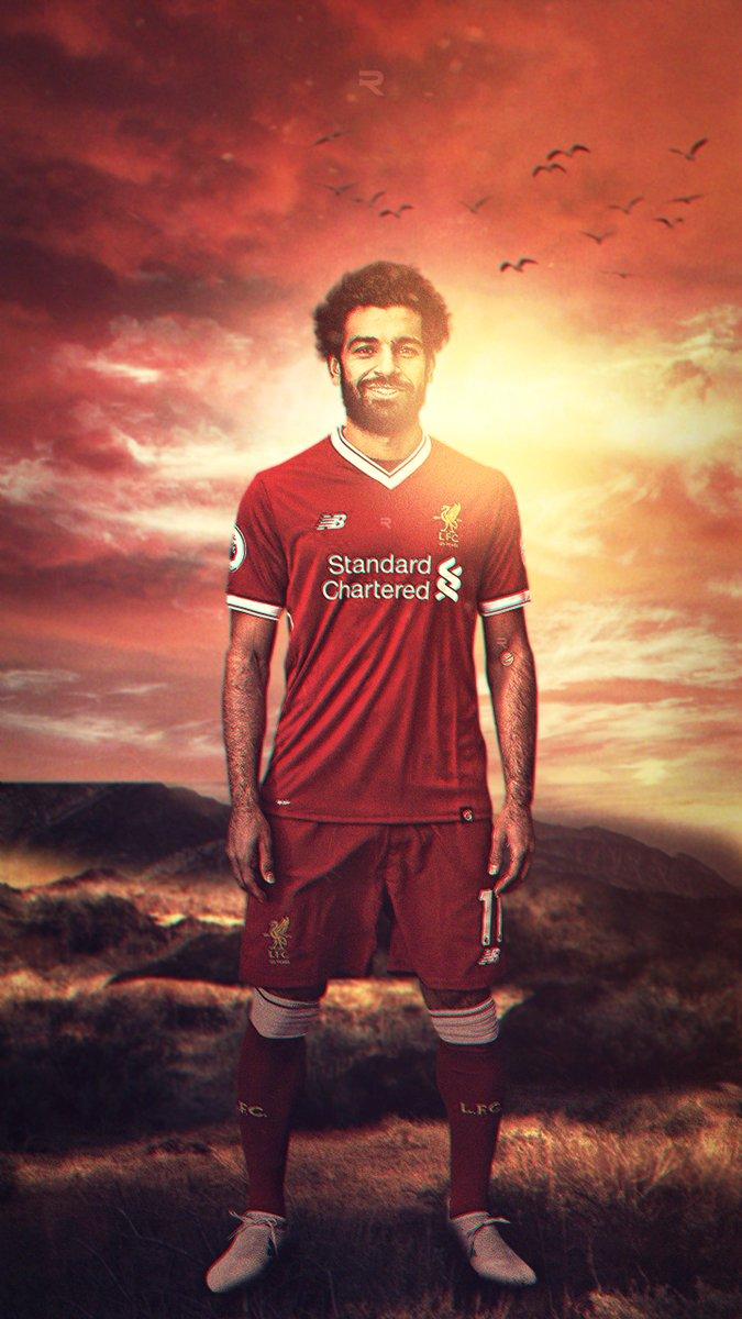 Red galaxy design on twitter mohamed salah phone - Mohamed salah wallpaper ...