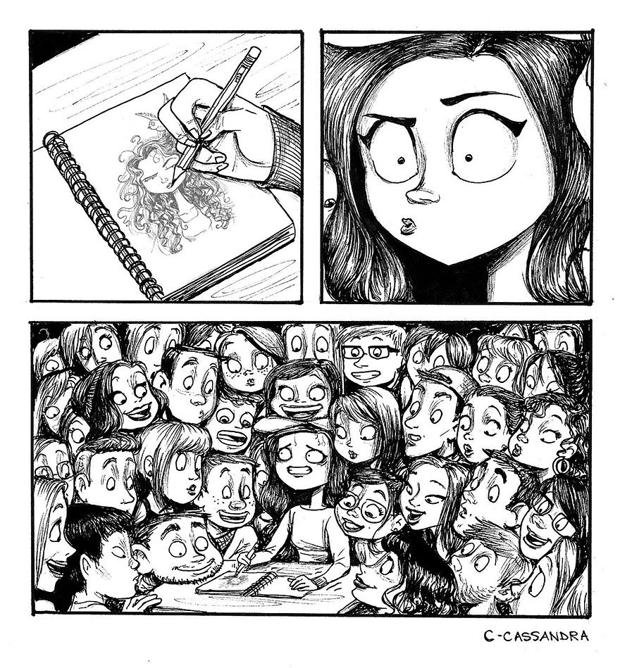 When ppl watch you draw... awesome #cartoon by Cassandra Calin #artistproblems #humor #fun<br>http://pic.twitter.com/RU2XnF0Ra6