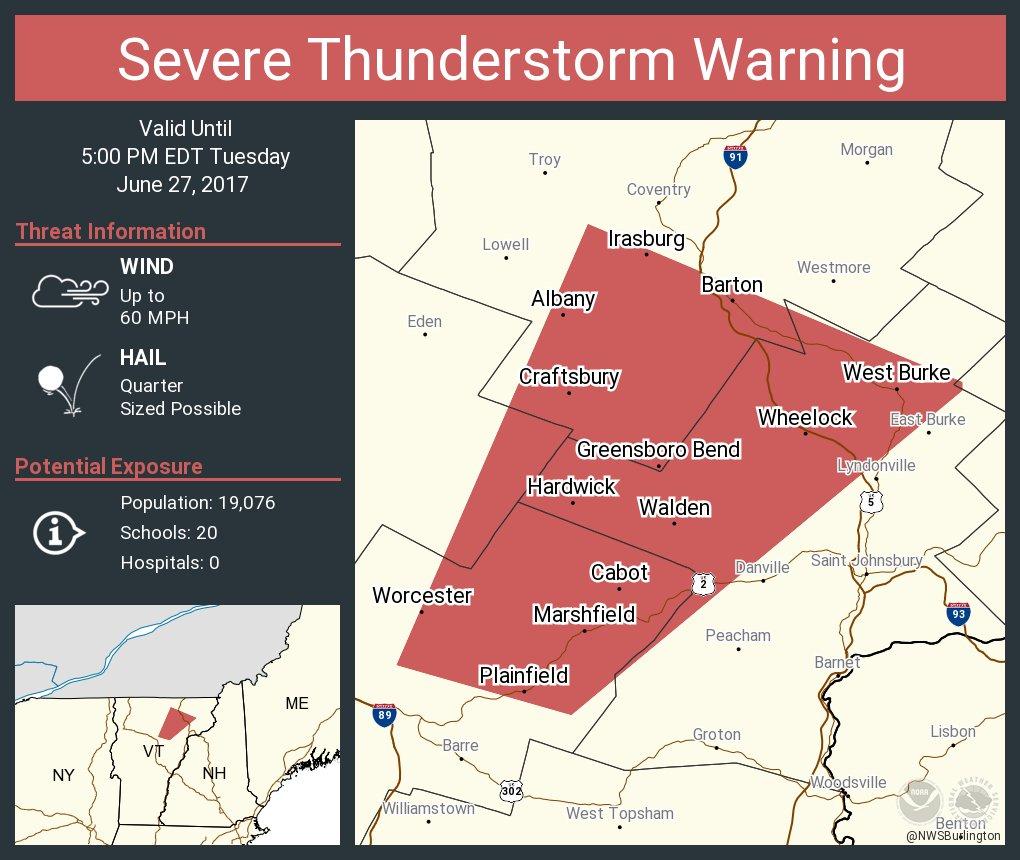 test Twitter Media - Severe Thunderstorm Warning including Hardwick VT, Barton VT, Plainfield VT until 5:00 PM EDT https://t.co/dKhinad7h3