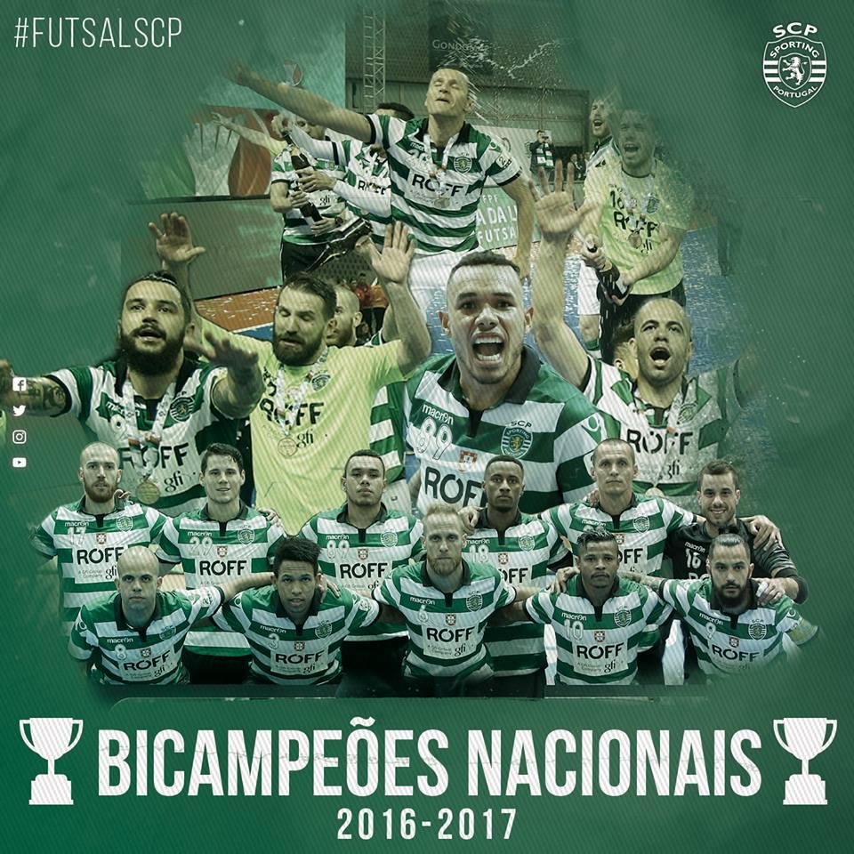 #FutsalSCP   ⏱ 40'   JÁ ESTÁ! NÓS SOMOS BICAMPEÕES!!!! SC Braga 0-3 #SportingCP