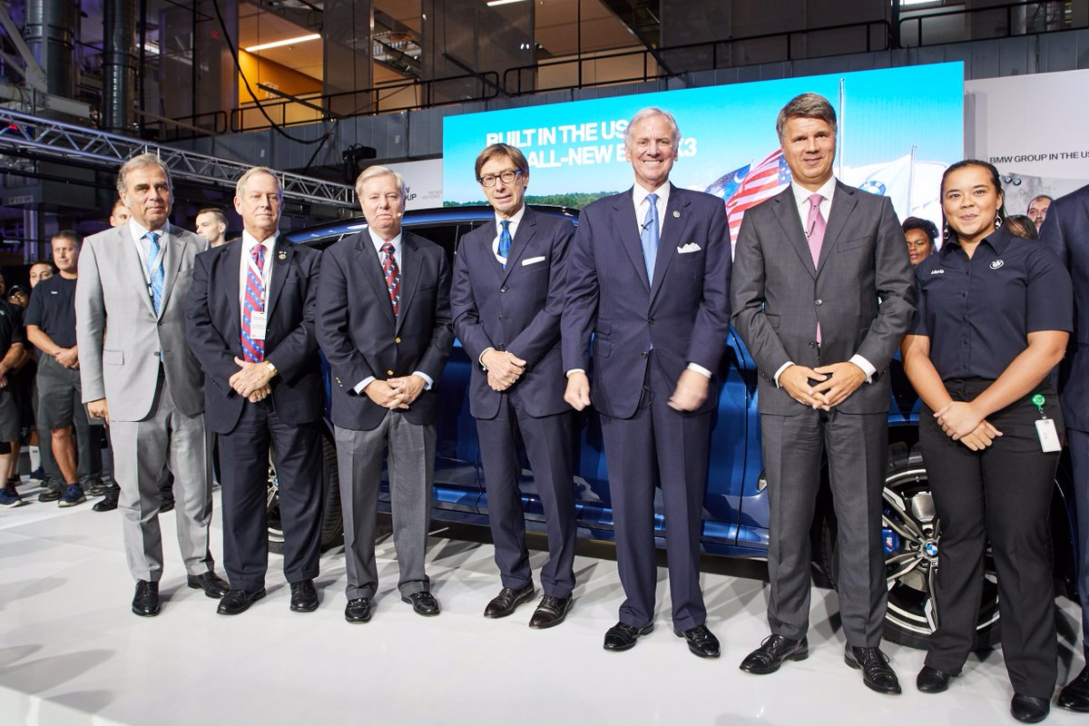 .@BMW, whose biggest plant is in #Spartanburg, SC, will invest additional $600 million from 2018-2021 &amp; provide another 1,000 jobs in  <br>http://pic.twitter.com/VSdKzFG6iC