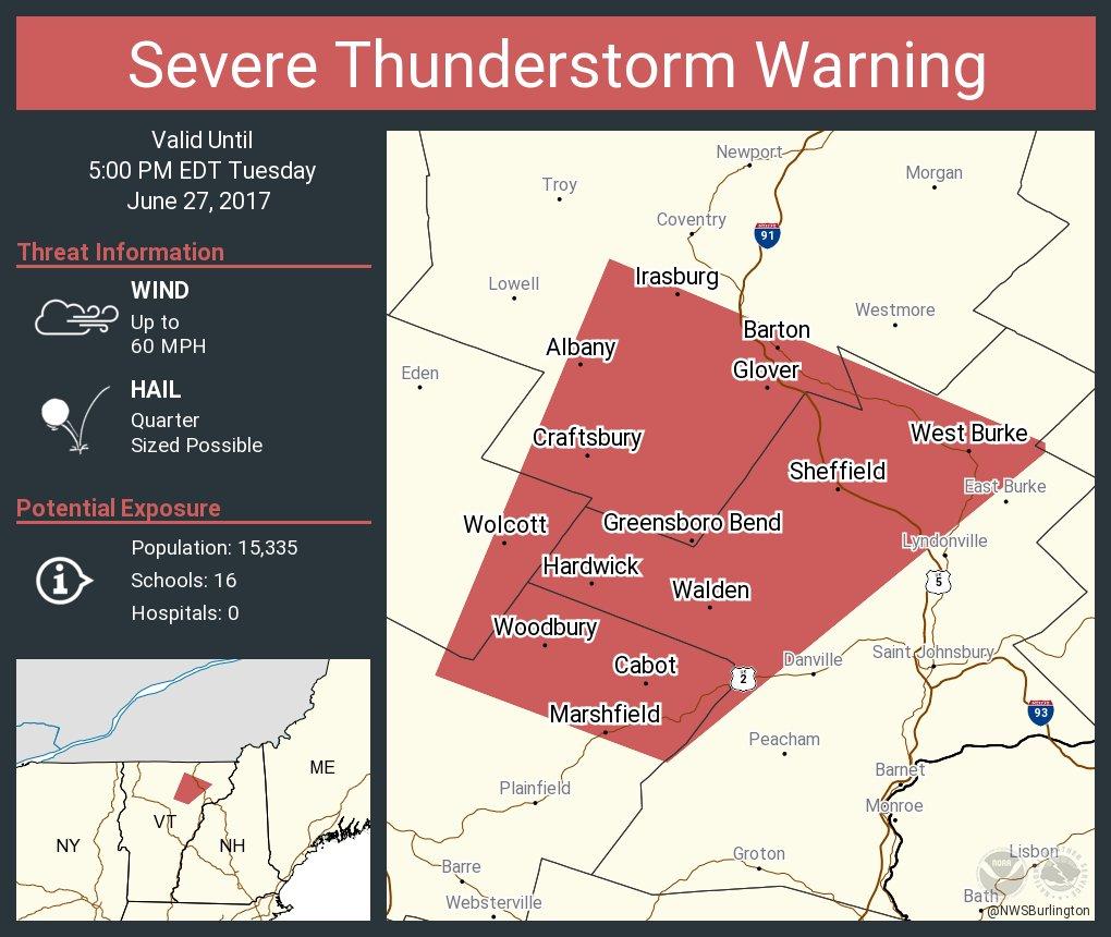test Twitter Media - Severe Thunderstorm Warning continues for Hardwick VT, Barton VT, West Burke VT until 5:00 PM EDT https://t.co/pwJp2udOxc