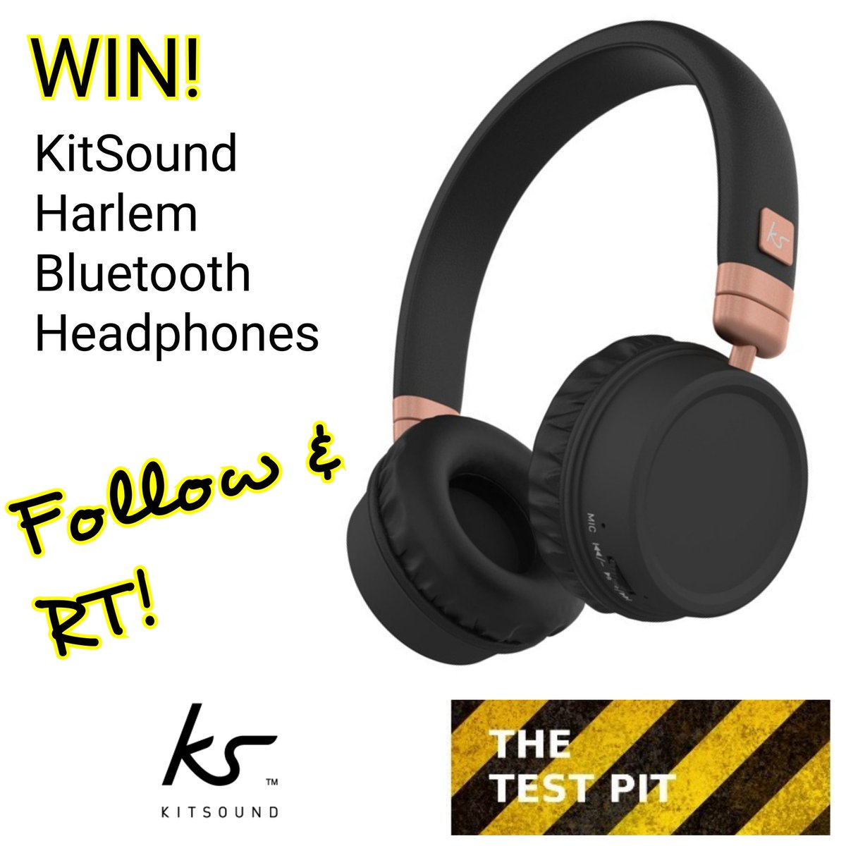 Our latest #competition is to #win @KitSoundUK Harlem Wireless Headphones. Follow &amp; RT to enter.  http://www. thetestpit.com/2017/06/compet ition-win-kitsound-harlem.html &nbsp; …  #giveaway<br>http://pic.twitter.com/kDJEr9qpSm