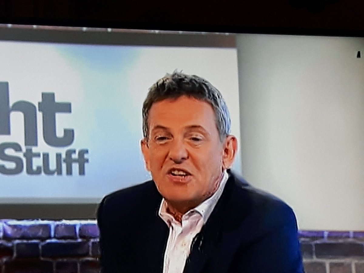 @Matthew_Wright catching up on todays show and saw this in the top right hand corner. Are your cameras running out of batteries? #whatItmean