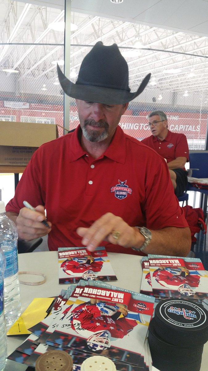 @cmalarchuk @Capitals signing cards at the Caps Alumni Summer Classic Game