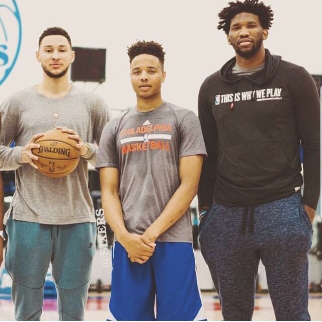 The future #Big3 in #Philly!   @BenSimmons25 @MarkelleF @JoelEmbiid   #SixersNation ##Sixers #PhillyRMC #RMC #FEDS #TrustTheProcess<br>http://pic.twitter.com/lZWvKieD65