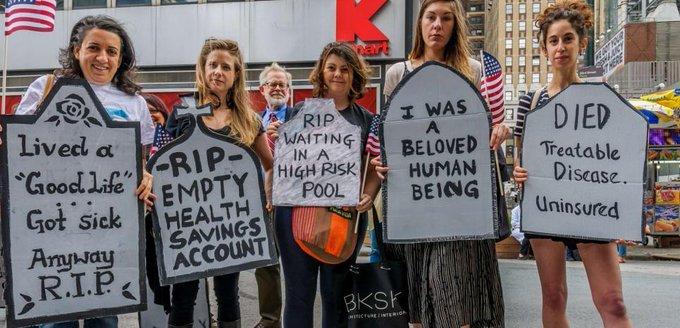 Un nouveau rapport montre les effets désastreux de la réforme de la santé de Trump https://t.co/6ZuYC8AIF8