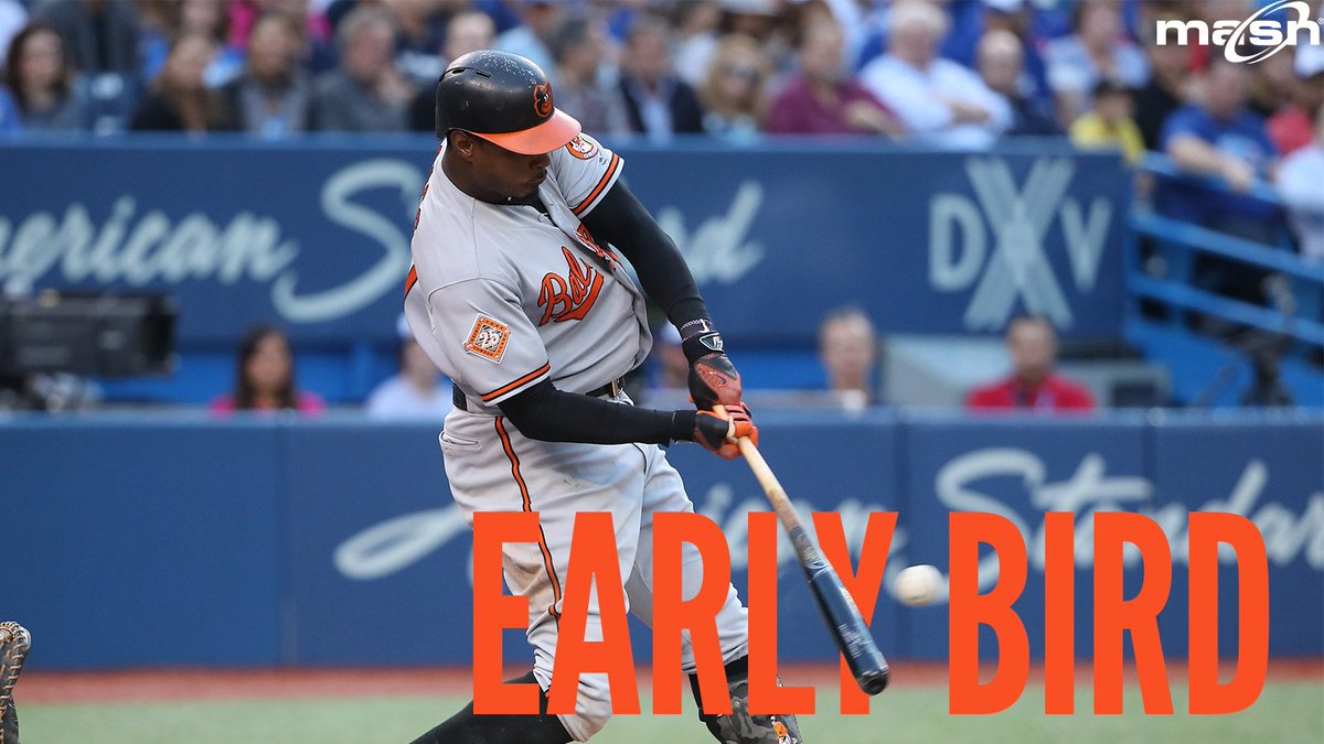 EARLY BIRD: Jones and Trumbo collect RBIs in the #Orioles' 3-1 win ove...