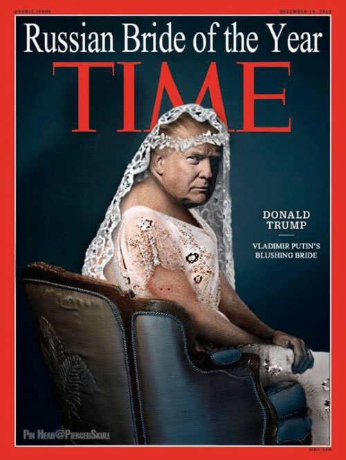 Trump as Russian bride