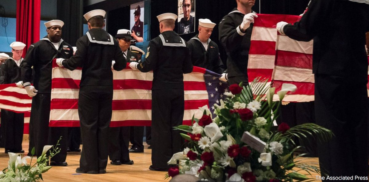 U.S. Navy holds memorial service for 7 sailors killed when the USS Fitzgerald collided with merchant ship off Japan. https://t.co/7JERMAVOGb