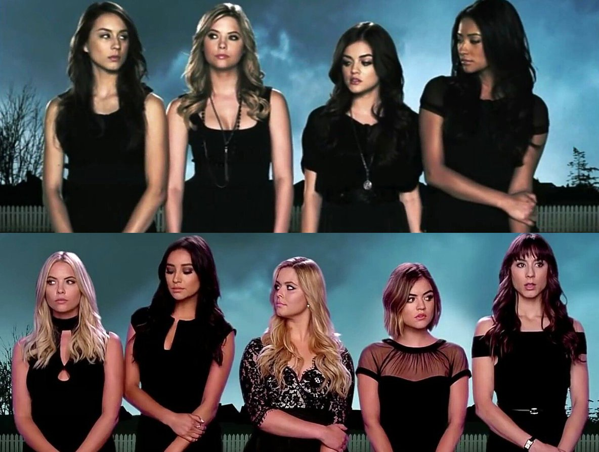 Then & now 😭 #PrettyLittleLiars #PLLGameOver https://t.co/pW7WMrN2...