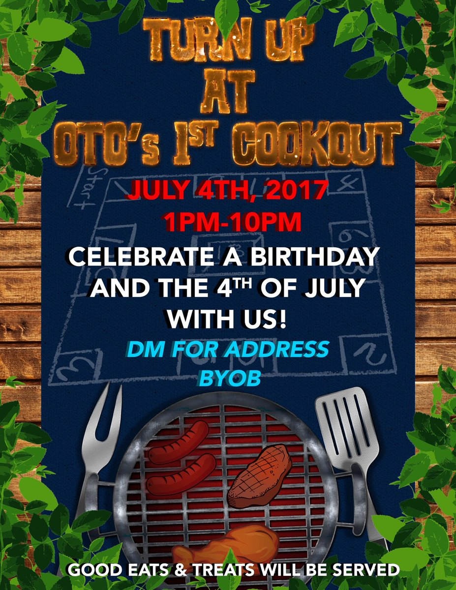 OTO&#39;s first turn up and cookout #bouttobemorethanlit #bethere #meettheteam #MrTurnup #celebration <br>http://pic.twitter.com/pNzt4K3UQc