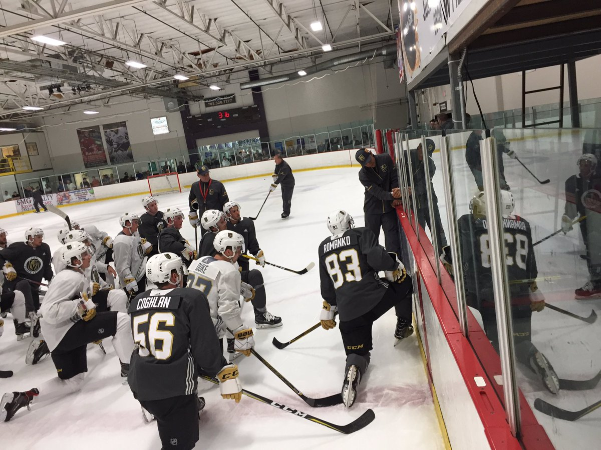 Here at the Las Vegas Ice Center for the very first @GoldenKnights tra...