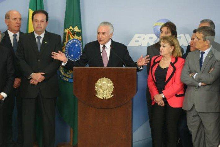 Confira a íntegra do discurso de Temer sobre a denúncia apresentada pela PGR  https://t.co/03P7L3atJ6 (📷Fabio Rodrigues Pozzebom/ABr)