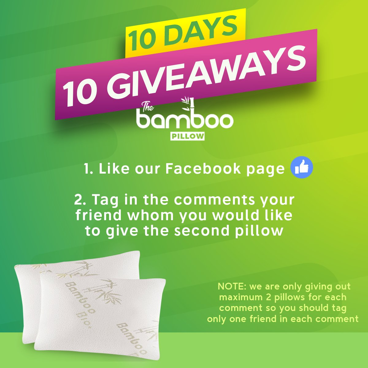 We start the 10-DAY #GIVEAWAY on our FB page! Follow the link for the...