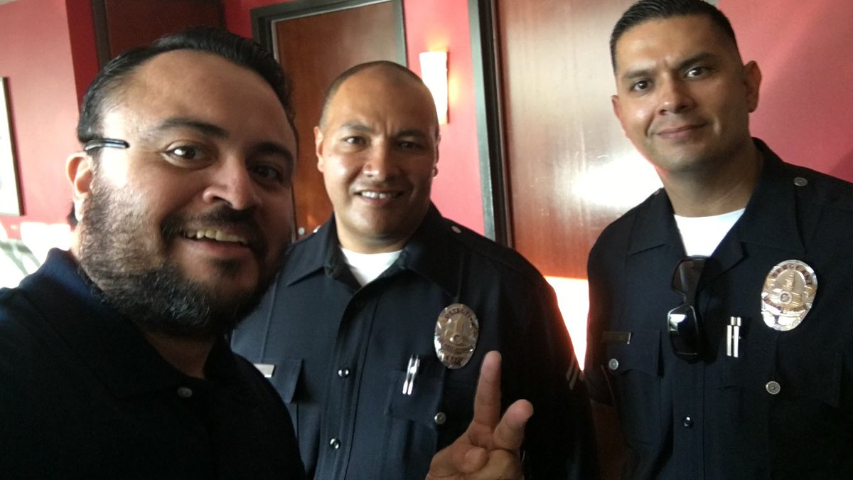 With @LAPDHQ @LAPDHollywood. Thanks so much for keeping us safe!! #BlueLivesMatter #BackTheBlue #LivePD #Veterans #america #PTSDAwareness<br>http://pic.twitter.com/CUZwDBlmMU
