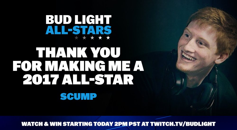 I AM A BUDLIGHT ALL-STAR!!! Streaming on their channel right now playi...