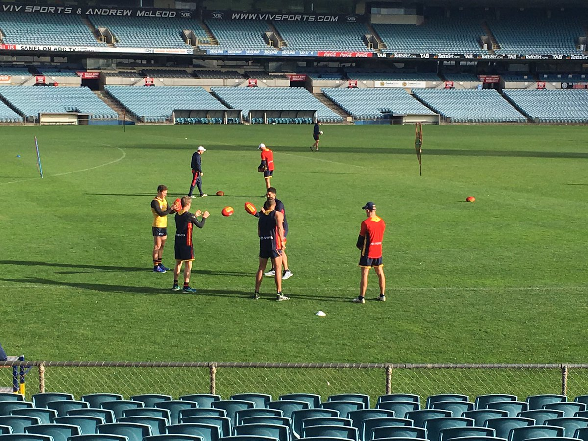 Crows defender Luke Brown training away from the main group https://t....