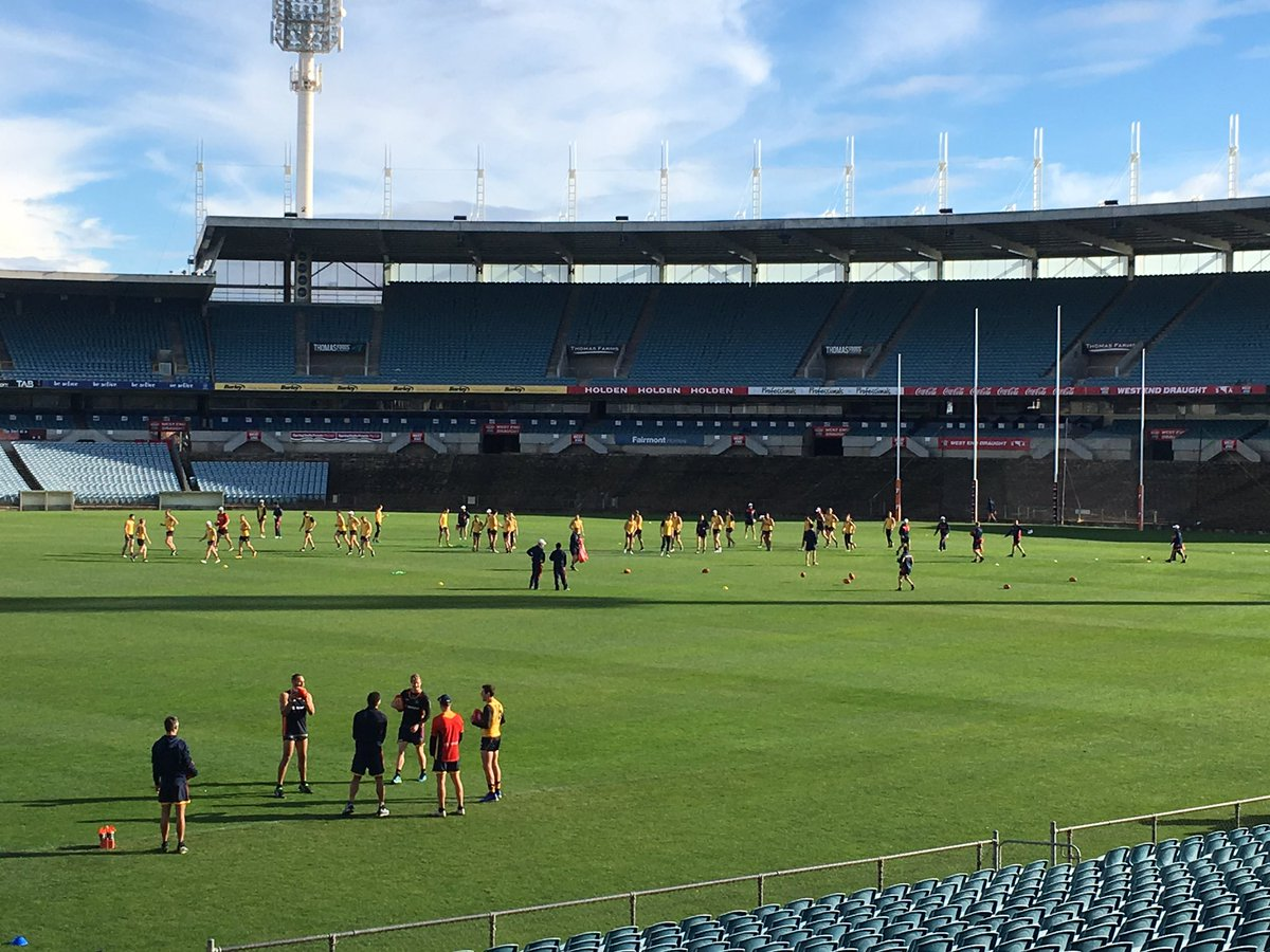 No sight of Charlie Cameron at Crows training, while Tom Lynch is croo...