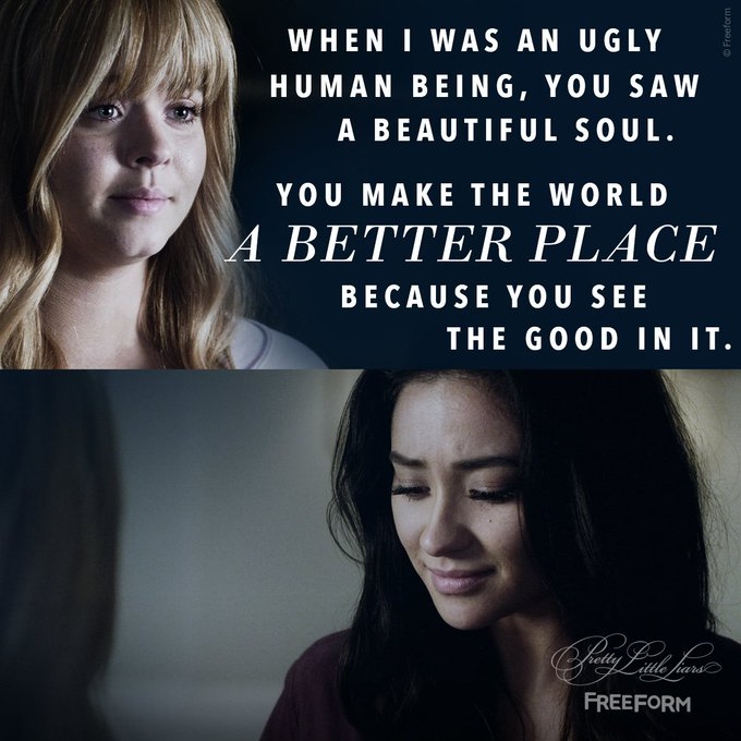 'And you make me a better woman because you search for one. Do you promise to that everyday for the rest of our lives?' 💍 #Emison #PLLFinale