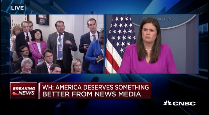 WATCH: Reporter goes off on White House over 'fake news' claims during press briefing https://t.co/Pqj9RLcbFi
