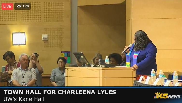 WATCH LIVE: Town Hall for #CharleenaLyles at University of Washington -- https://t.co/45YWzi5Sdt