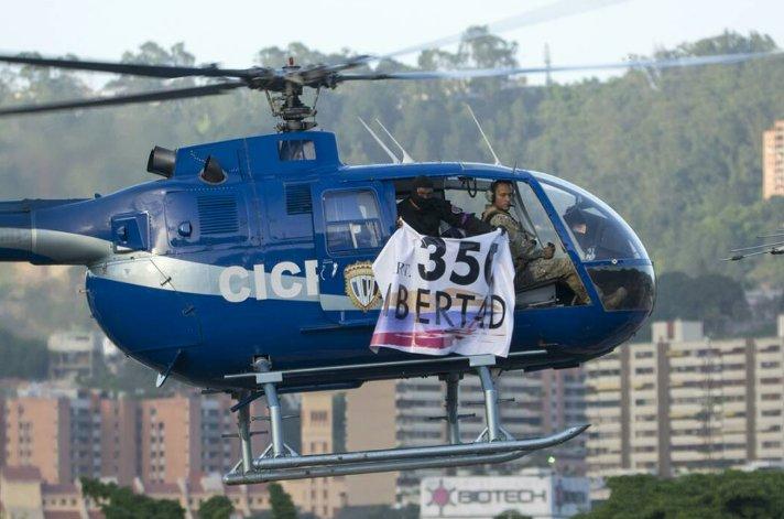 ВВенесуэле вертолет обстрелял здания Верховного суда иМВД