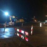 @BarendrechtnuNL - Ingezonden: Nachtelijke werkzaamheden aan de rotonde 1e Barendrechtseweg. Voorbereidingen om er een kruispunt van te maken. #Barendrecht https://t.co/orkEN67ZUk