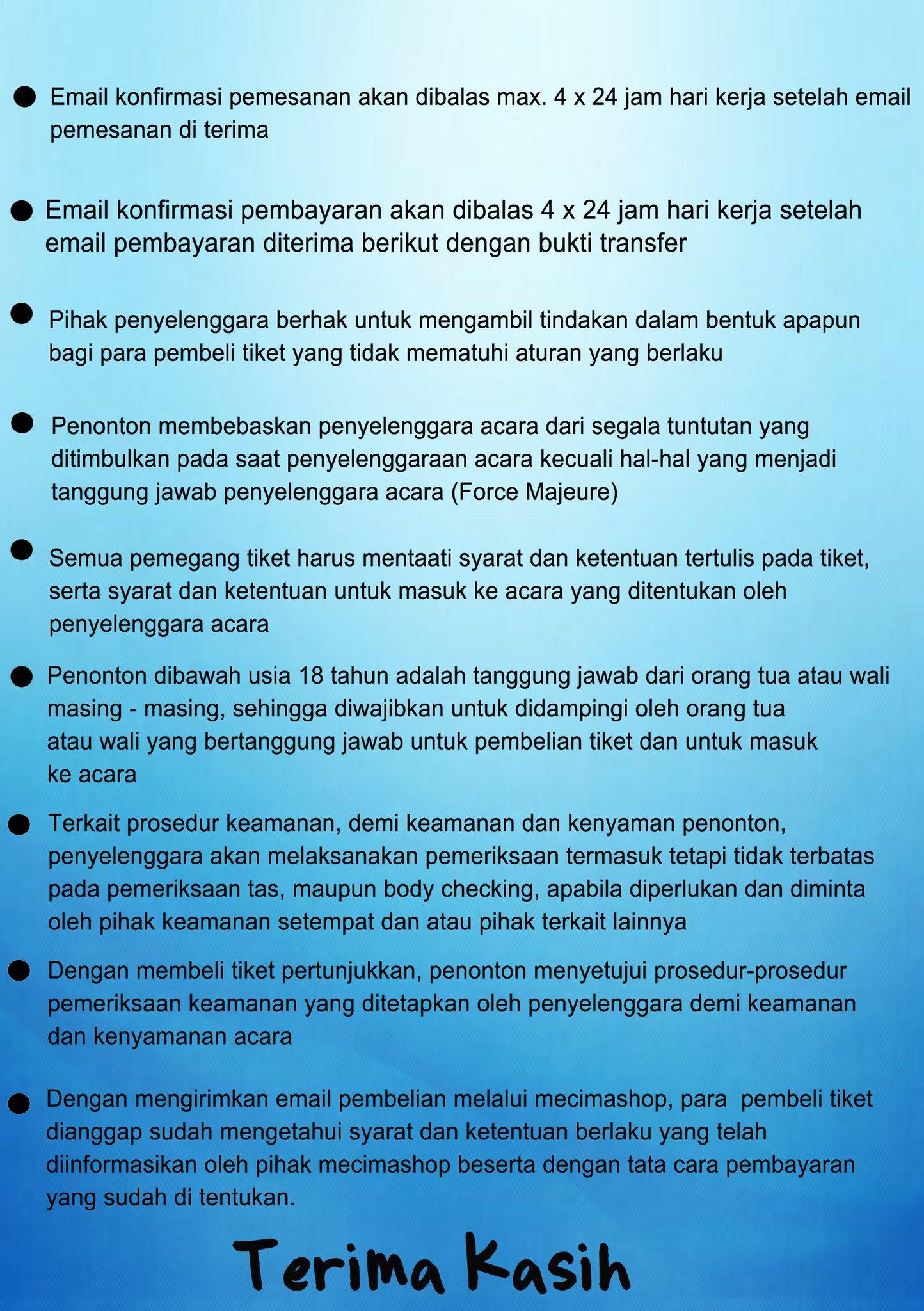 "MCP on Twitter ""[ SVTinJKT] Ketentuan Pembelian Tiket VIP PACKAGE untuk MCP FANCLUB Members 3 … """