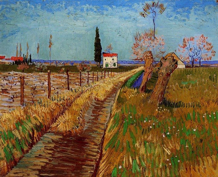Vincent #VanGogh, Path Through a Field with Willows, April 1888. https...