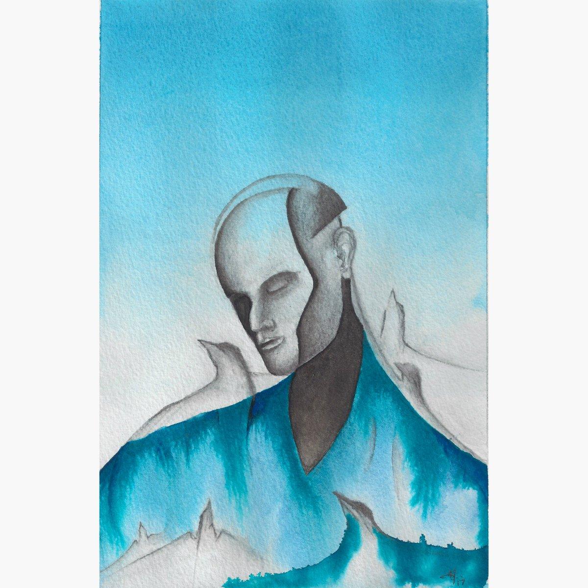 Through #watercolor - 26-17 cm. Celeste Series #painting #watercolour #omxart #deephouse #techno #dance #contemporary #art #PrideMonth <br>http://pic.twitter.com/yY5UP7RCwq