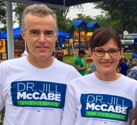 G-man McCabe out campaigning with his wife! #TuesdayThoughts #DrainTheSwamp #HatchAct<br>http://pic.twitter.com/52m34GRIPy