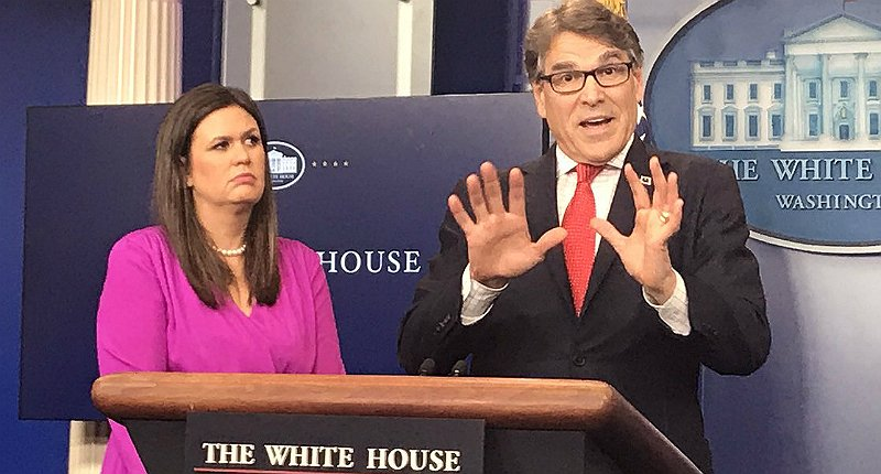 'Holy sh*t, Rick Perry is insane': The Internet gobsmacked by energy secretary's press conference https://t.co/zu6d92r0fO