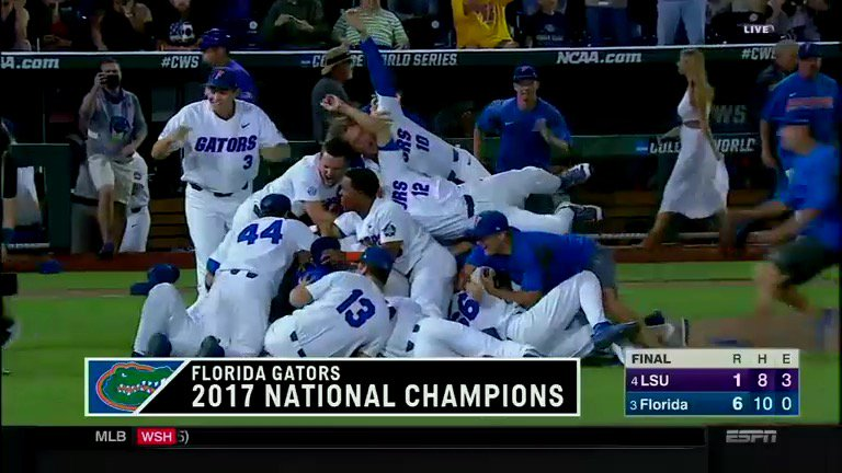 The @FloridaGators are the champions of the college baseball world. ht...