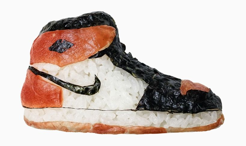 this &#39;shoe-shi&#39; artist is taking fish from food to footwear with these edible #sushi #sneakers  http://www. designboom.com/art/sushi-snea kers-yujia-hu-milan-shoe-shi-06-27-2017/ &nbsp; … <br>http://pic.twitter.com/bHSNnGSd77